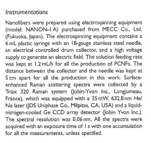 NANON-01A on the paper for Applied Spectroscopy