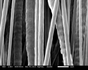 Electrospinning PCL into aligned nanofibers